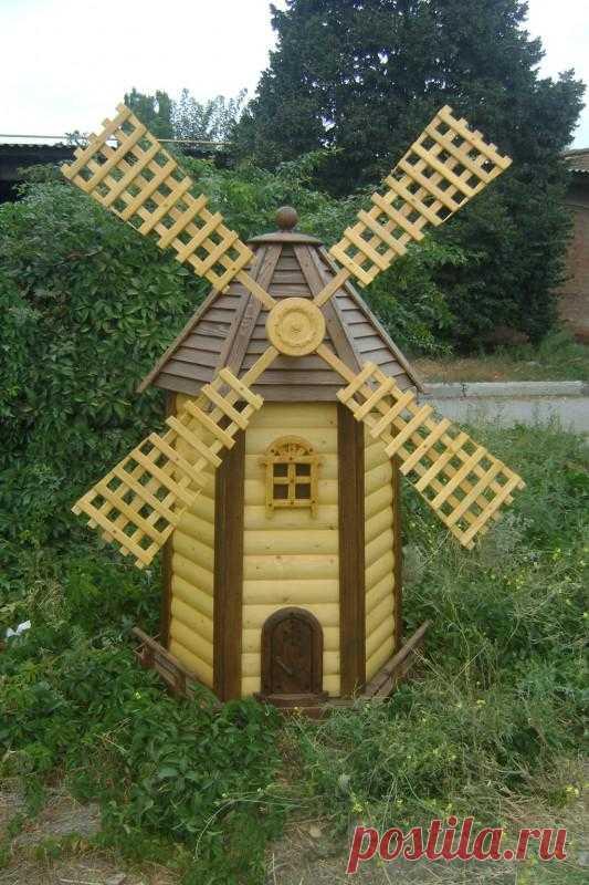 Декоративные мельницы украшают ландшафт и привлекают удачу | Wood Brothers