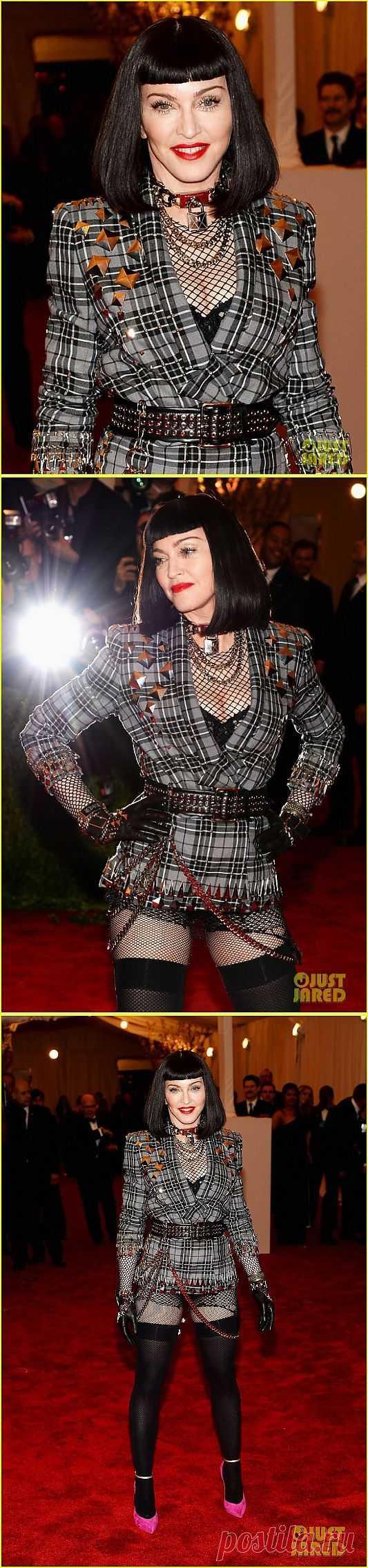 Булавки+клетка+клепки+Мадонна / Звездный стиль / Модный сайт о стильной переделке одежды и интерьера