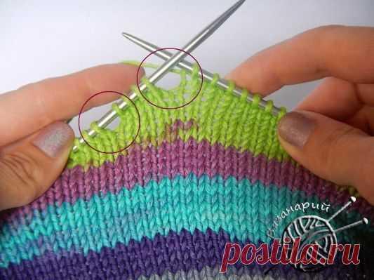 Частичное вязание на спицах укороченных рядов. Подробный урок