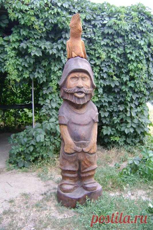 """Деревянная скульптура """"Пират"""""""