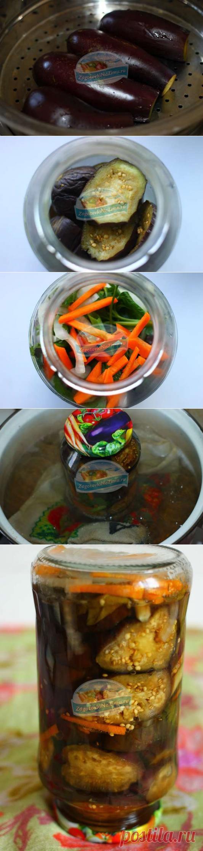 Заготовки из баклажан на зиму. Баклажаны на пару кружочками с морковью: рецепт с фото пошагово