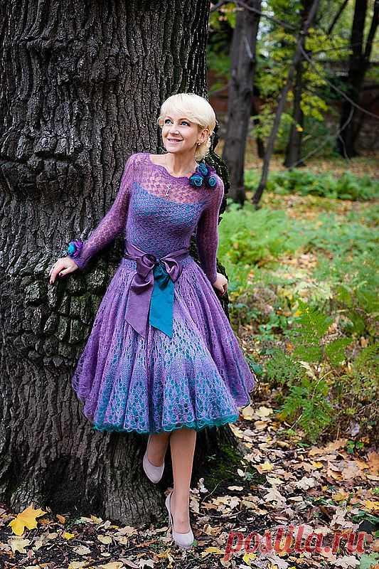 Вязаное платье из мохера. Платье «Буги-вуги» от Tancha. | razpetelka.ru