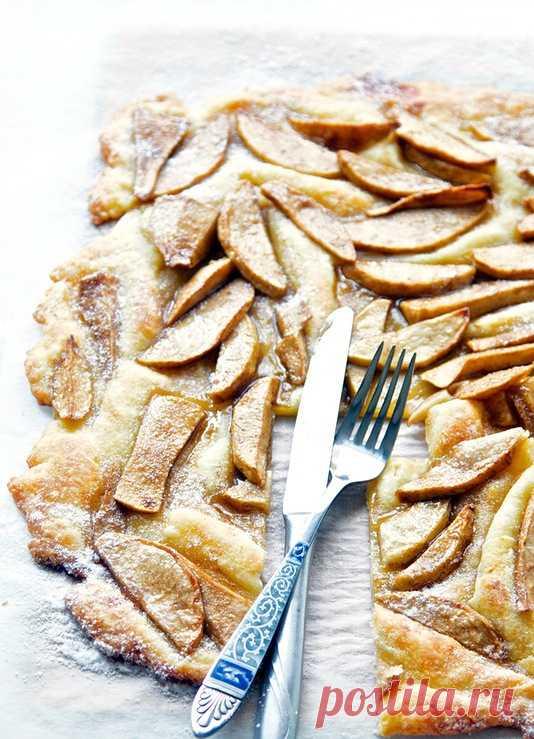 """""""Мятый"""" яблочный пирог. (Рецепт по клику на картинку)."""