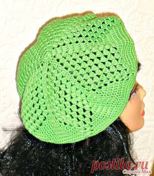 берет по мк светланы фабриций страна мам вязание головные уборы