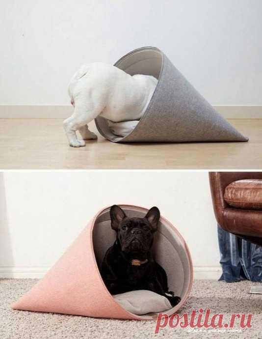 Оригинальная лежанка для маленькой собачки или кошечки