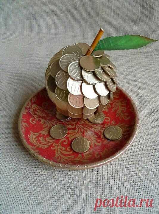 поделки из мелочи денег фото