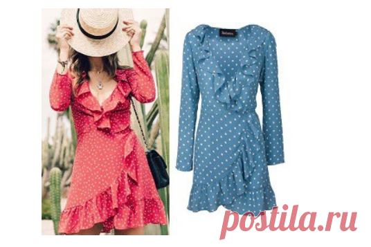 Платье на запах с рюшем (выкройки) Модная одежда и дизайн интерьера своими руками