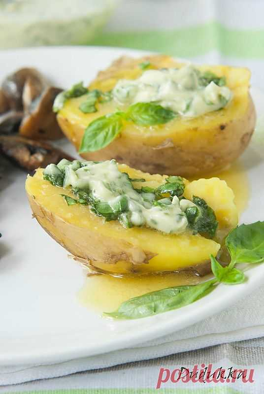 Запеченый картофель с базиликовым маслом!