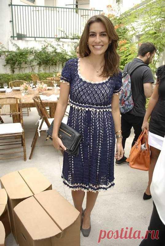 синее платье от ванессы монторосхема изысканное платье крючком со