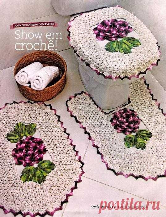 Теплые, мягкие, восхитительные коврики и комплекты для ванной из меланжевой пряжи.
