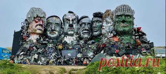 В английском графстве Корнуолл стартовал саммит G7 – а еще там появилась скульптура из электронных отходов, изображающая всех его участников.