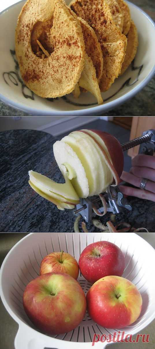 HOW TO: Make the Easiest, Tastiest Home-Baked Apple Chips Ever | Inhabitots