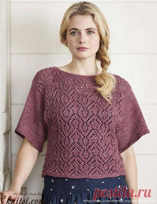 пуловер с короткими рукавами