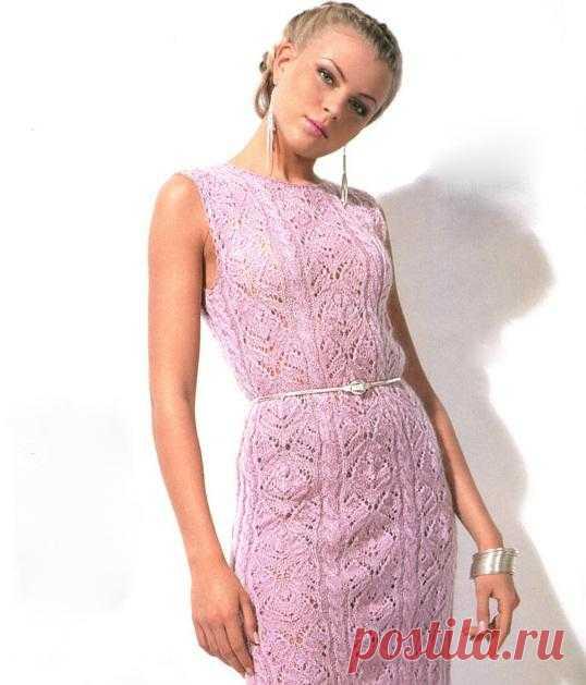 Ажурное вязаное платье Kiss | Шкатулочка для рукодельниц