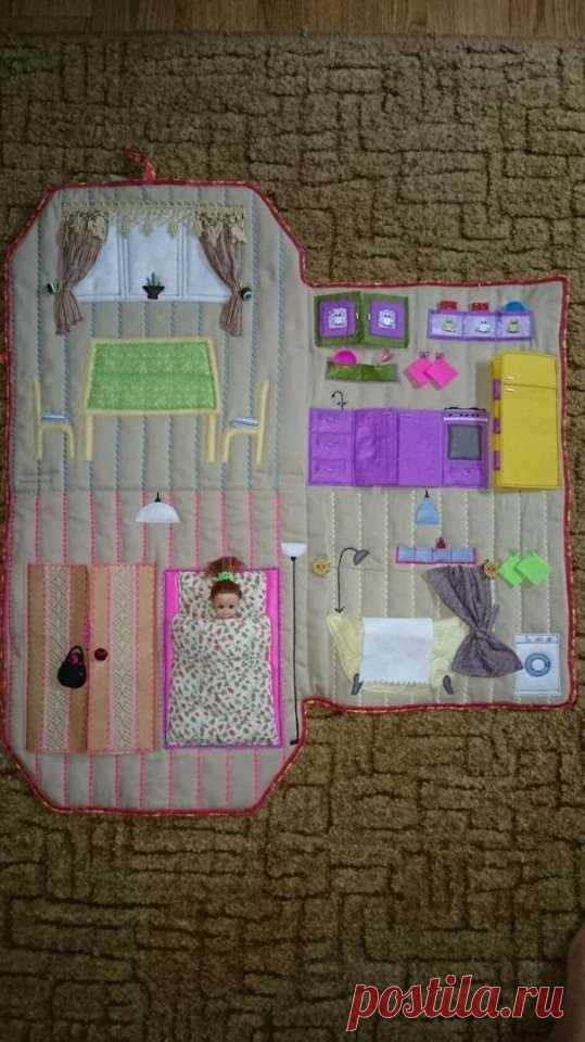 Кукольный домик в стиле пэчворк — HandMade