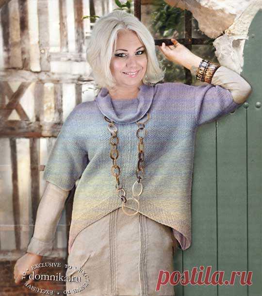 Модный пуловер для пожилых женщин 60 лет - большие размеры женские пуловеры