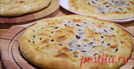 Осетинские пироги с мясом ( 3 пирога диаметром 24 см) Кулинарный Видео Блог