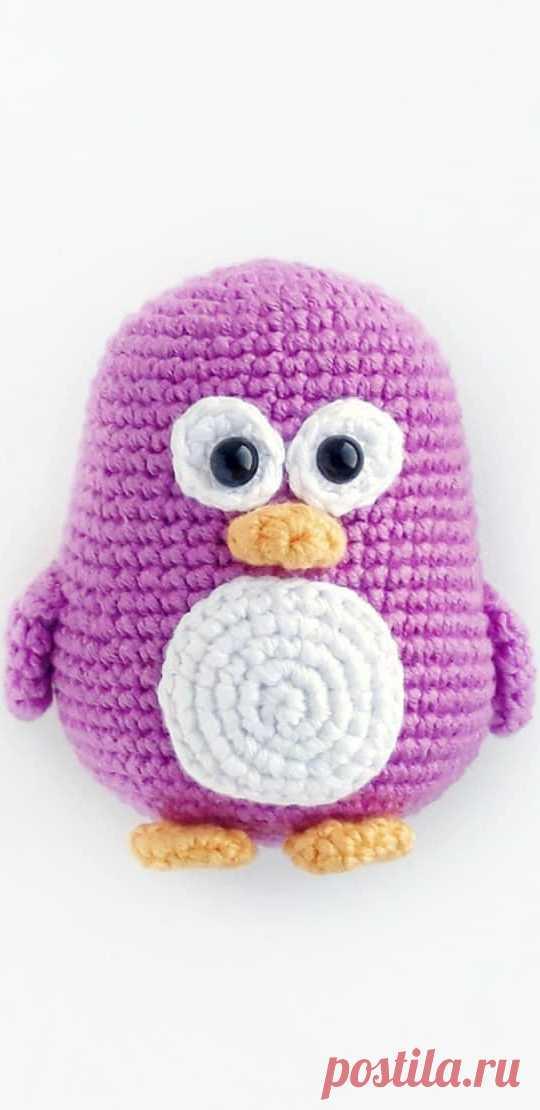 PDF Пингвинёнок крючком. FREE crochet pattern; Аmigurumi doll patterns. Амигуруми схемы и описания на русском. Вязаные игрушки и поделки своими руками #amimore - маленький пингвин, пингвинята, пингвинчик.