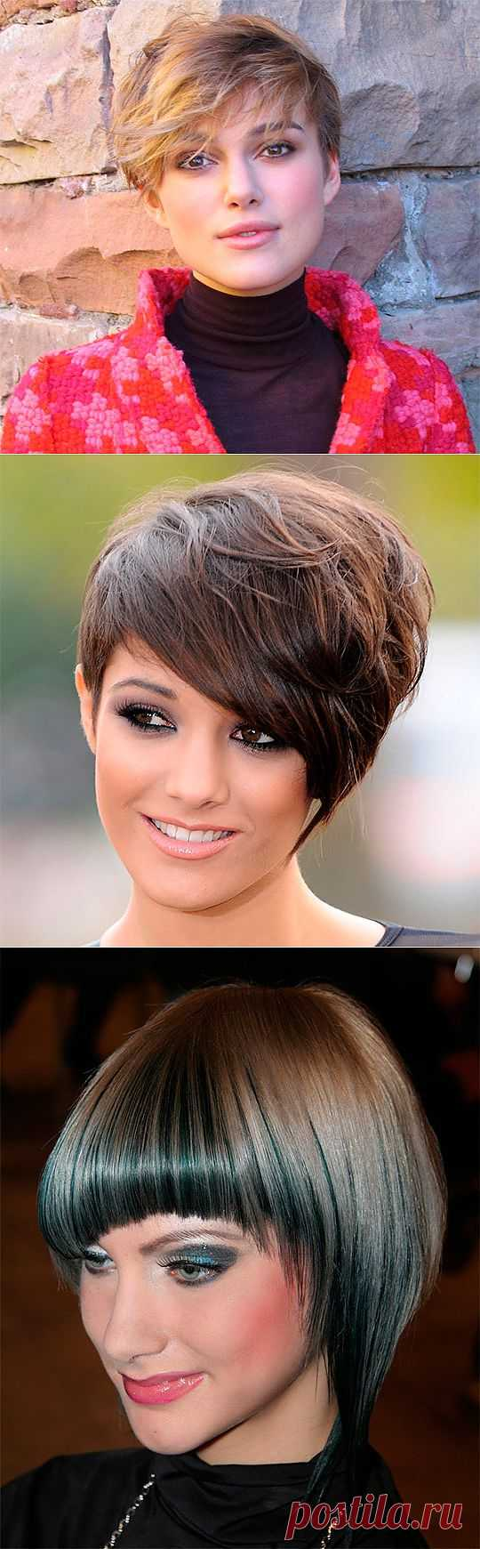 Hairdresses on short hair of 2014 (65 photos) of video