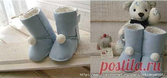 24564302a детские сапожки из меха + выкройка | СВОИМИ РУКАМИ | Постила
