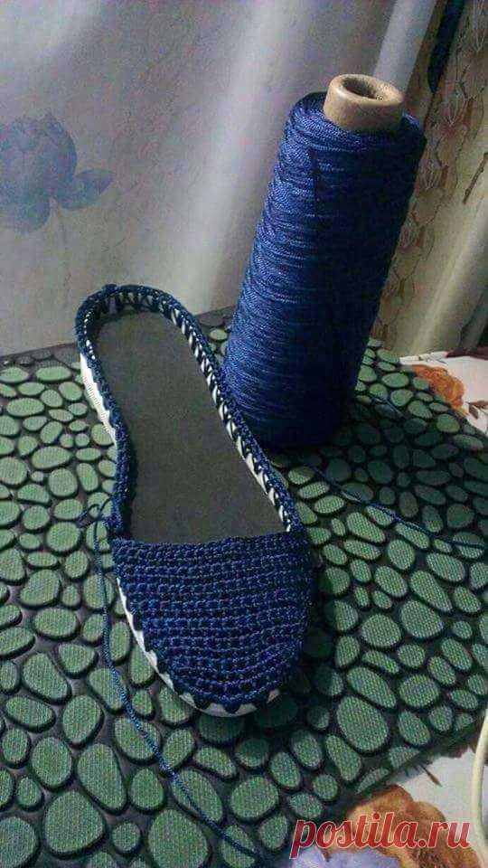 Вяжем летнюю обувь крючком: легкие эспадрильи