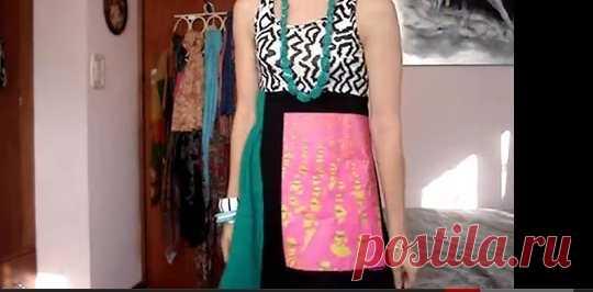 Платье из 3 топов (мастер-класс) / Футболки DIY / Модный сайт о стильной переделке одежды и интерьера