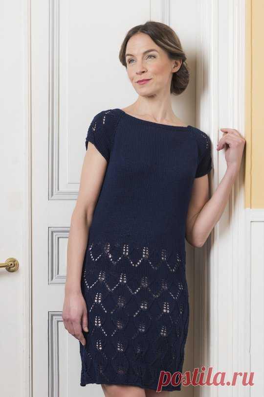 Платье спицами от Lea Petäjä