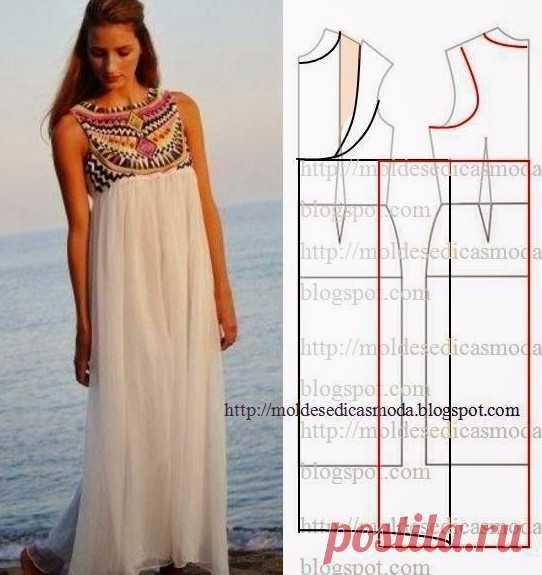 7f8640470f3 Летние платья и сарафаны с простыми выкройками. 50 платьев — 50 выкроек!  Платье —