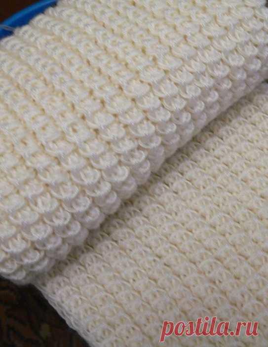 Схема вязания американской резинки спицами