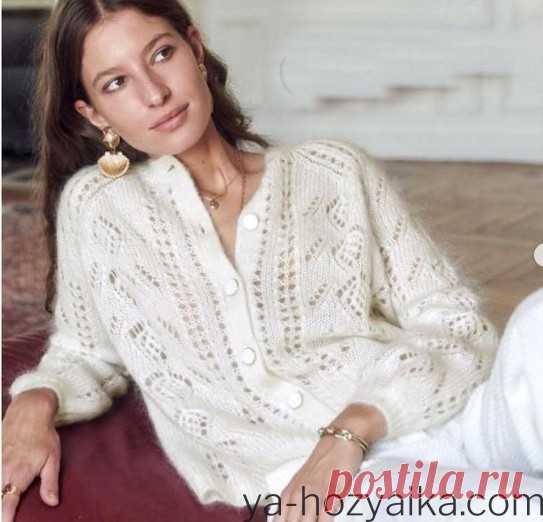 Кофта из мохера схемы. Модные вязаные кофты для женщин 2020-2021