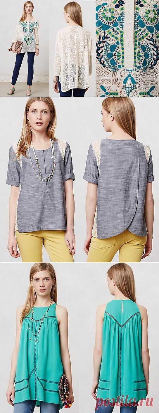 Три кружевные блузы Anthropologie / Кружево / Модный сайт о стильной переделке одежды и интерьера