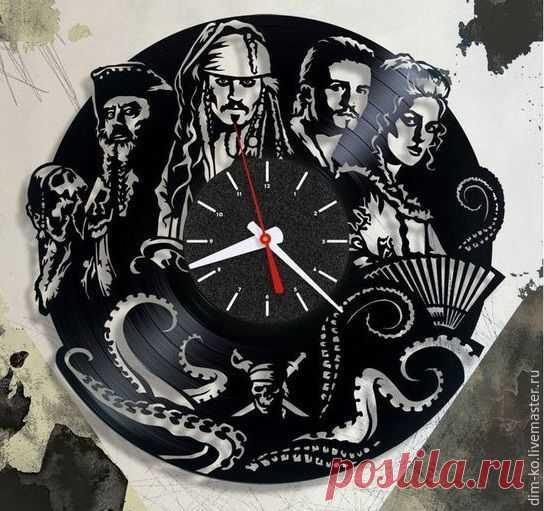 Часы настенные Пираты Карибского моря – купить в интернет-магазине на Ярмарке Мастеров с доставкой Часы настенные Пираты Карибского моря - купить или заказать в интернет-магазине на Ярмарке Мастеров | Часы изготовлены из старых виниловых пластинок.
