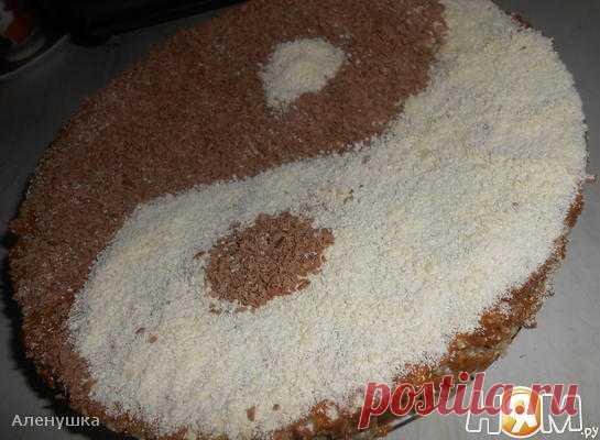 Вафельный торт Инь-Янь