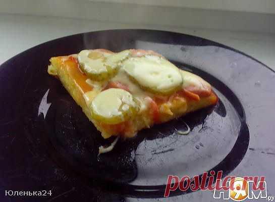 Быстрая пицца к завтраку - Рецепты, блюда - Ням.ру