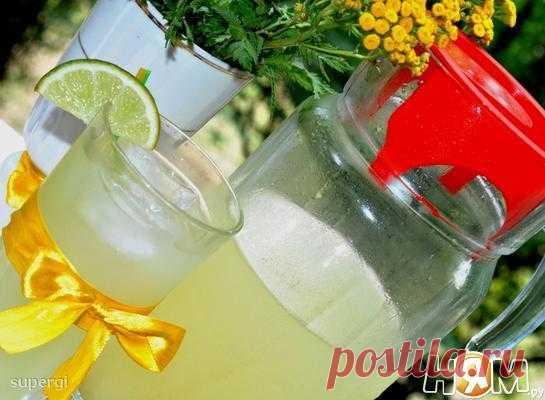 Имбирный лимонад с мятой