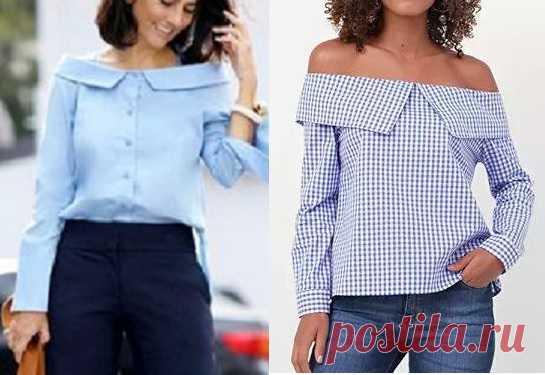 Блузка с открытыми плечами #Схемы_выкроек на размеры с 36 по 56 в файле PDF Camisa manga ombro a ombro