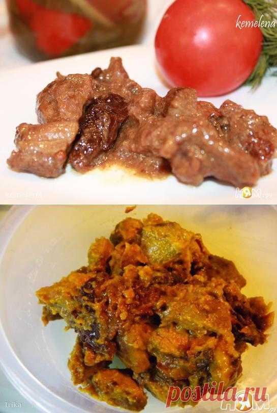 """Рагу из баранины с черносливом.Алжирская кухня.Конечно, вариантов подобного рагу с черносливом много в разных кухнях мира. Но это рецепт взят именно с арабского сайта в разделе """"Алжирская кухня""""."""