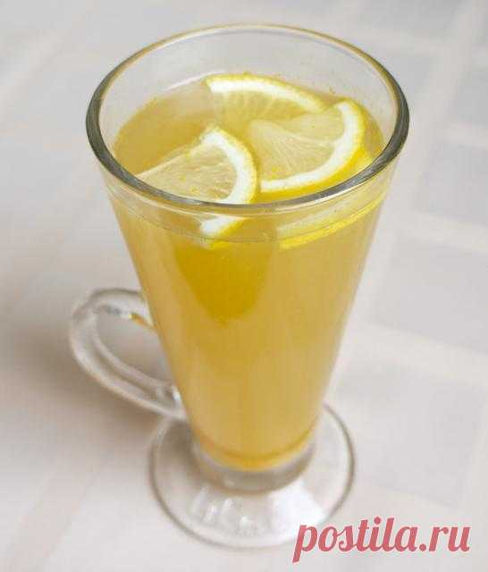 Чайный грог с лимоном и апельсином