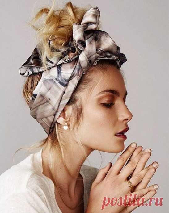 Как использовать платок на голове как стильный аксессуар