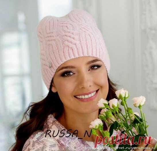 Вязание спицами шапки с арановыми узорами