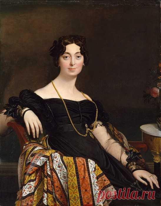 «Мадам Жак-Луи Леблан (урожденная Франсуаза Понсель, 1788-1839)» картина - Жан Огюст Доминик Энгр