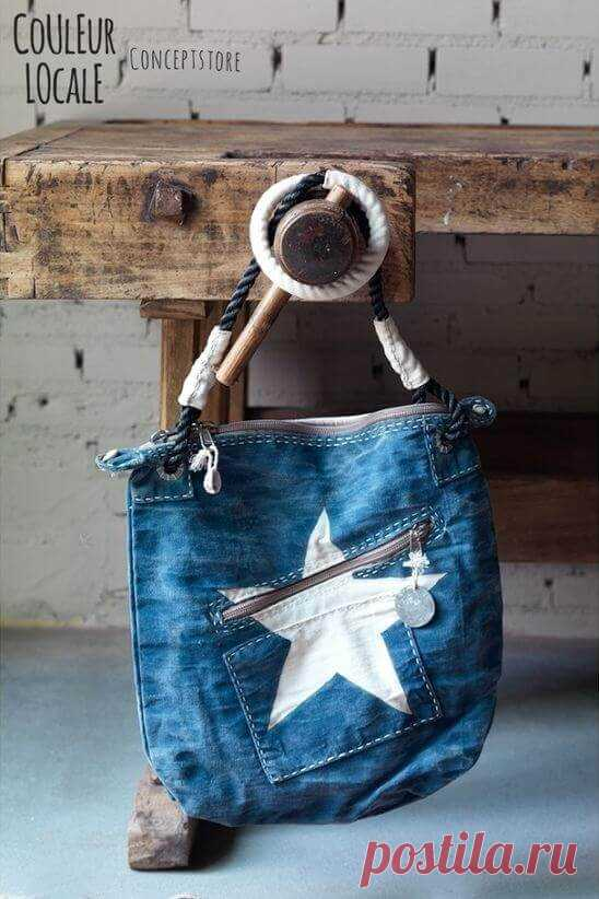 d77c85947456 Сшить сумку из старых джинсов — выкройки и мастер-классы для вас ...