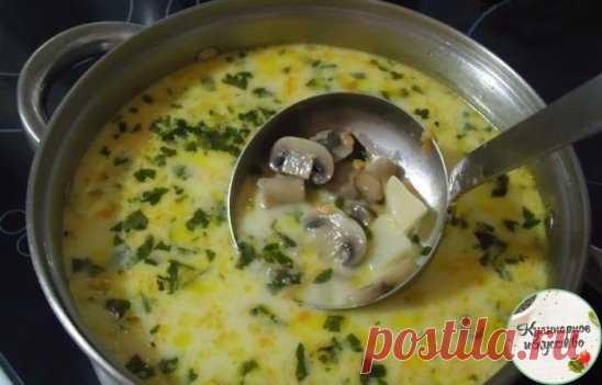 Самый вкусный грибной сливочный суп ! Сочетание сливок, плавленого сыра и грибов — так вкусно, просто пальчики оближешь Ингредиенты: шампиньоны — 200 грамм; картошка — 2 штуки; сливки (можно молоко) — 100 грамм; морковка — 1 штука; сырок плавленый — 70-100 грамм; лук репчатый — 1 штука; укроп — 1 пучок; соль — по вкусу;перец — по вкусу; растительное масло для жарки. Самый вкусный грибной сливочный суп. Пошаговый рецептЧтобы готовить грибной сливочный суп, сначала необходимо вскипятить