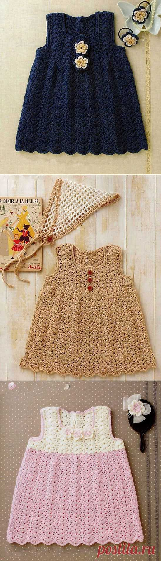 Summer children's dress. Simple effective pattern + color (any).