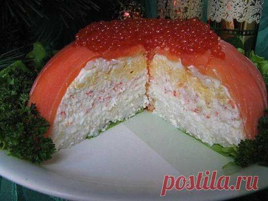 """  Слоеный рыбный салат """