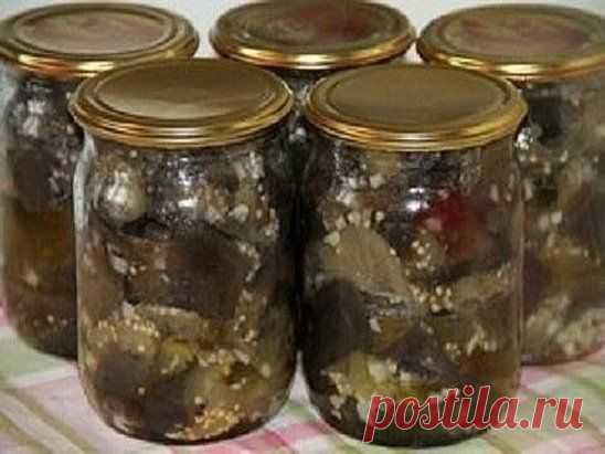 Ароматные и вкусные запасы на зиму — баклажаны с чесноком