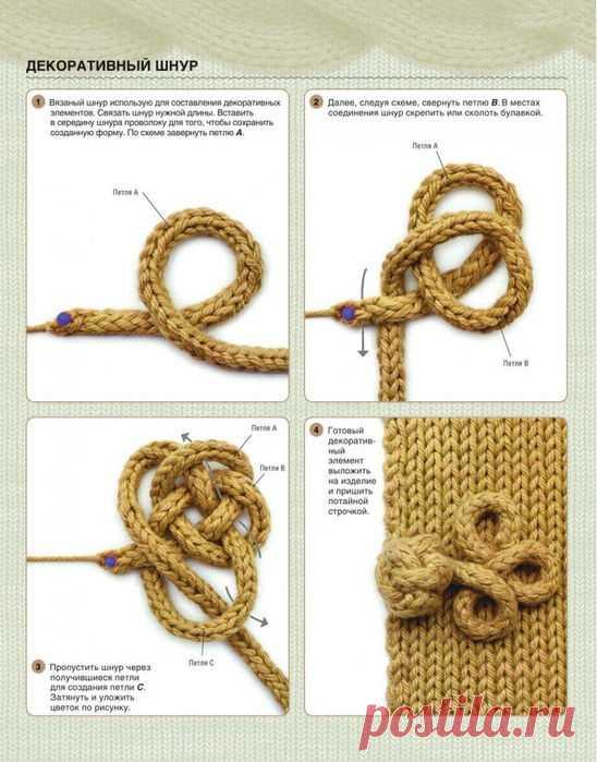 Декоративный шнур для украшения вязаных изделий