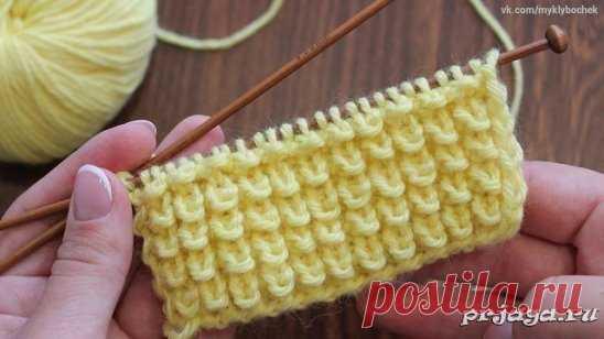 узор кукурузка спицами чтобы связать узор спицами наберите