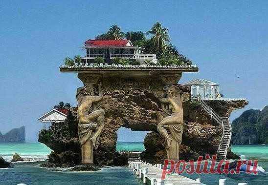 Вот это домик у моря!!! Обалдеть, красота какая !!!
