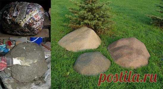Искусственные валуны для сада камней.